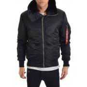 Alpha Industries MA-1 Hooded Black M