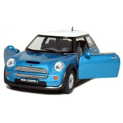 """Kinsmart 5"""" 1:28 Mini Cooper S Die-Cast Model Car With Openable Door And Pull Back Action From Flying Toyszer"""