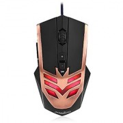 Perixx MX-1000 Copper Programmable Gaming Mouse - 7 Programmable Button & 5 User Profile - Avago A3050 Optical Sensor - DPI Switch 500-4000 - Compatible with Win 10
