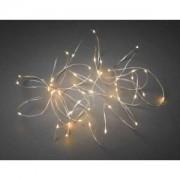 Konstsmide Micro LED lichtdraad zilver met 100 extra warm witte lampen