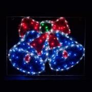 Светодиодная фигура Feron LT016 4000K/синий/синий/красный колокольчики с мишурой(26714)