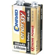 Baterie litiu 9 V, 900 mAh, Conrad energy