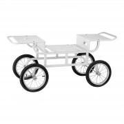 Onderstel voor suikerspinmachines- 4 wielen - wit