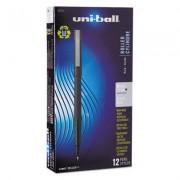 Roller Ball Stick Dye-Based Pen, Black Ink, Micro, Dozen