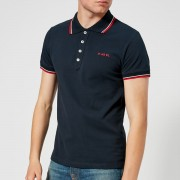 Diesel Men's Randy Broken Polo Shirt - Navy - L - Navy