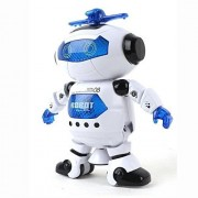 High Quality Dancing Naughty Robot With 3D Flashing Lights & Music Functions For Kids, 360 Degree Rotating Music & Light Controllabe By Remote Naughty Robot Toy With Remote Control With Music For Kids Dancing Robot For Kids, Battery Operated Dancing Robot