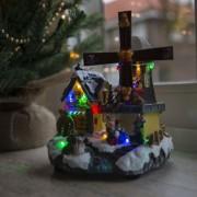 Kaemingk Casa di Natale MULINO a LED multicolore