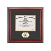 Signature Announcements Harford-Community-College Marco de Diploma de graduación con Sello de Aluminio esculpido de 16 x 16 Pulgadas, Color Cerezo