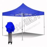 ray bot Gazebo pieghevole 4x6 blu Exa 55mm alluminio senza laterali PVC 350g