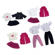 Segolike 5 suits Fancy Jeans Shirt Pants Dress Suit Clothes for 18'' American Girl Our Generation Doll Princess Outfit