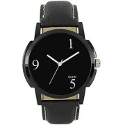 Lava CreationSport Round Dial Black Leather Strap Analog Watch For Men ( Sport NM-06 )
