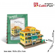 Puzzle 3D Cubic Fun - World Style - Welcome to Italy, 26 piese (Cubic-Fun-W3113H)