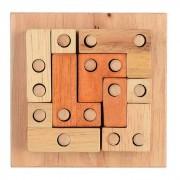 Insercion de bloques Junta de juguetes educativos Juego - Madera Color Marron +