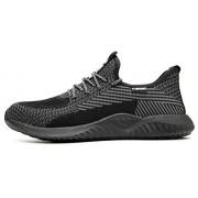 Desconocido SafeByAlex Zapatos de Seguridad de Trabajo con Puntera de Acero 2019 Estilo Corredor de Verano para Hombres y Mujeres Industrial y construcción, 605-black, 4.5 US