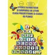 Literele alfabetului si grupurile de litere clasa pregatitoare si clasa I 40 de planse
