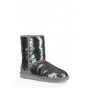 UGG Classic Short Sequin Boot SLVR