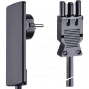Cordon electric Schulte 1,5 m cu mufa GST 18, negru