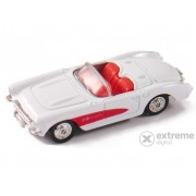 Mașinuță Welly Chevrolet Corvette 1957, alb 1:60-64