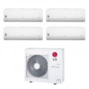 LG Climatizzatore Libero Smart Wifi Quadri Split 7000+7000+7000+12000 Btu Inverter In R32 Mu4r25