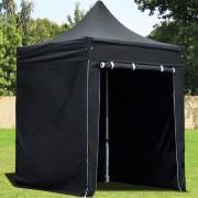 Intent24.fr Tente pliante 2x2m PES 350 g/m² noir imperméable barnum pliant, tonnelle pliante