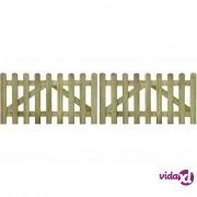 vidaXL Vrata za ogradu 2 kom 300x80 cm FSC impregnirano drvo
