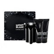 Mont Blanc Emblem 100Ml Edt 100Ml + 100Ml Aftershave Balm + 100Ml Shower Gel Per Uomo (Eau De Toilette)