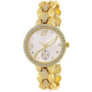 TRUE CHOICE TC 037 GOLD BEALT ANALOG SUPER WATCH FOR GIRLS.