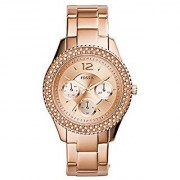 Fossil Analogue Rose Gold Dial Womens Watch - Es3590