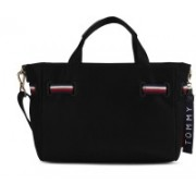 Tommy Hilfiger Women Casual Black Nylon Tote