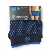 Traders Navy Printed Trunks - Navy 3XL