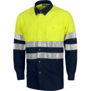 Camisa C3813 reflectante de manga larga con cierre de botones. Workteam