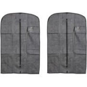 PRAHAN INTERNATIONAL Men's Coat Blazar Cover Bag Suit cover Pack of2 PIS-C2B067(Black)