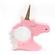 KKY Wooden Unicorn Piggy Bank Transparent Money Boxes Save Coin Box Decoration Child