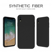 NILLKIN Synthetic Fiber Hard Case Cover for iPhone XR 6.1 inch - Black