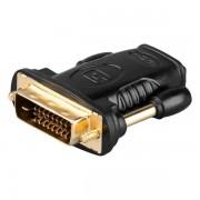Goobay HDMI Buchse auf DVI-D 24+1 pin Stecker Adapter vergoldet