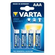 Set 4 baterii alcaline Varta AAA
