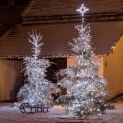 łańcuch świetlny LED decoLED - 40m, 200 białych zimnych diod LED