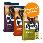 Pack de prueba: Happy Dog Supreme Sensible 3 x 4 kg - Toscana, Nueva Zelanda, Irlanda