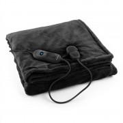 Klarstein Dr. Watson XL електрическо одеяло120W, приятна, 180x130cm, плюш, черен цвят (HZD2-Dr.Watson-XL-BK)