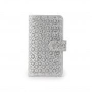 ヒロコ ハヤシ HIROKO HAYASHI GIRASOLE(ジラソーレ) 手帳型iPhoneケース (シルバー) レディース