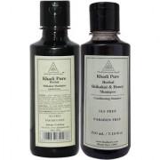 Khadi Pure Shikakai and Shikakai Honey Shampoo SLS Free Combo (420ml) Pack 2