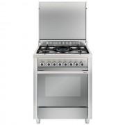 Glem Gas M765mic Cucina 70x60 5 Fuochi A Gas Forno Multifunzione Elettrico Venti