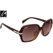 Aislin Over-sized Sunglasses(Brown)