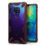 Husa Protectie Spate Ringke Fusion X Transparent / Rosu pentru Huawei Mate 20