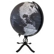 "Replogle Hamilton Designer Series Globe, Black Ocean World Globe, Rustic Black Steel Stand, Raised Relief, Designed for Modern and Industrial Decor (12""/30 cm diameter)"