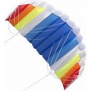 Foerteng Sport Kite 1.4m Double-Line Rainbow Pattern Paraglider Soft Sorts Kite for Kids