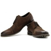 Kenneth Cole Layer It On Lace Up Shoes For Men(Brown)