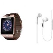 Zemini DZ09 Smart Watch and S6 Bluetooth Headsetfor LG OPTIMUS L9 II(DZ09 Smart Watch With 4G Sim Card Memory Card  S6 Bluetooth Headset)