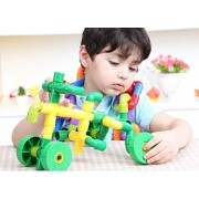 Branew Plumbing Pipes Fight Inserted Plastic Lego Bricks Early Childhood Educational Toys DIY Assembled Plastic