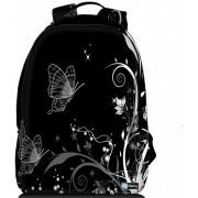 """Sleevy laptop rugzak 17,3"""" Deluxe vlinders zwart/wit"""